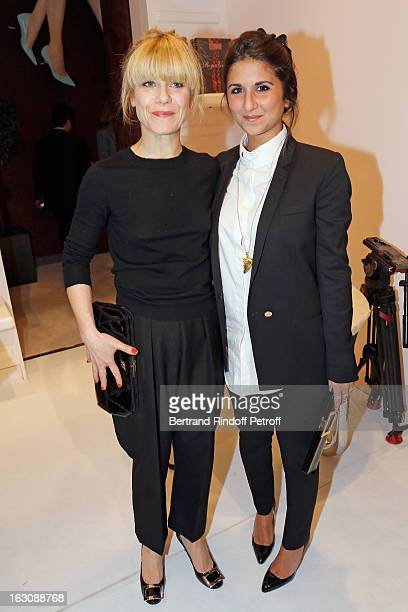 Geraldine Nakache and Marina Foys attend the Roger Vivier Cocktail to celebrate the launch of the book 'Roger Vivier' as part of Paris Fashion Week...