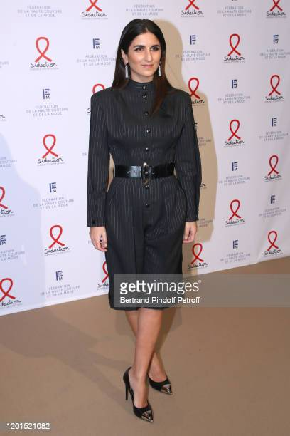 Geraldine Nakache attends the Sidaction Gala Dinner 2020 at Pavillon Cambon on January 23 2020 in Paris France
