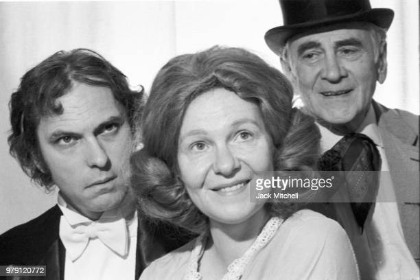 Geraldine Page with her husband Rip Torn and character actor Muni Seroff in Anton Chekhov's 'A Marriage Proposal' which was broadcast live on...