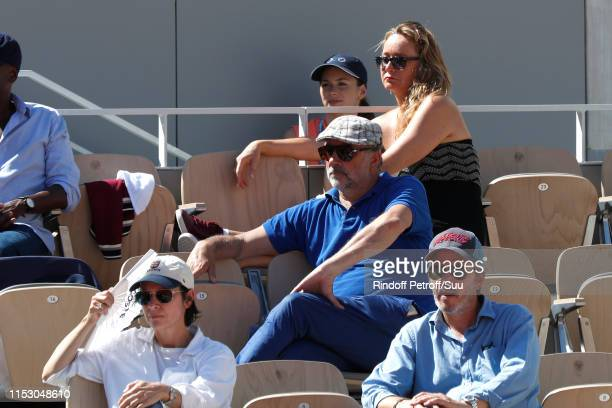 Geraldine Pailhas Christopher Thompson Antoine Dulery and Julie Ferrier attend the 2019 French Tennis Open Day Seven at Roland Garros on June 01 2019...