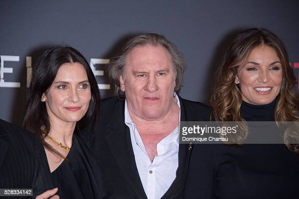 Geraldine Pailhas Gerard Depardieu and Nadia Fares attend the 'Marseille' Netflix TV Serie Wold Premiere At Palais Du Pharo In Marseille on May 4...