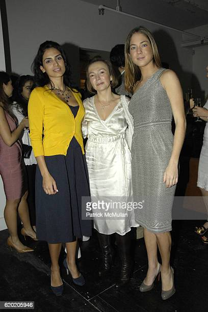 Geraldine Paz Mayra Hernandez and Karina CorreaMaury attend The Latin American Health Foundation's New York Launch at 145 Avenue of the Americas on...