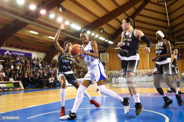 Geraldine Robert of Montpellier during the women's french League final match between Montpellier Lattes and Villeneuve d'Ascq on May 5 2017 in...