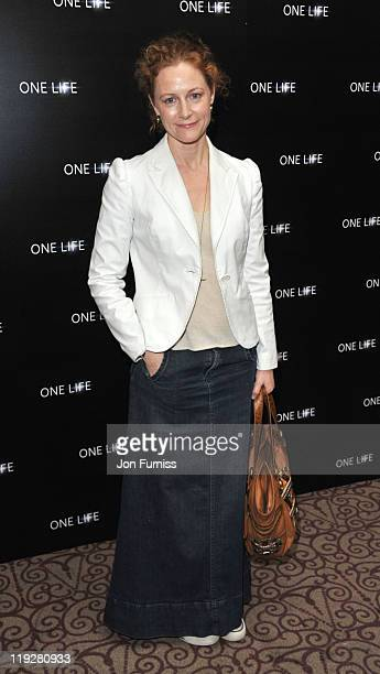 Geraldine Somerville attends a preview screening for One Life a new film from BBC Earth Films voiced by Daniel Craig on July 16 2011 in London England