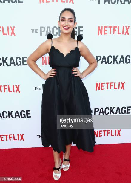 Geraldine Viswanathan attends the Los Angeles special screening after party For The Netflix Film 'The Package' at El Cid on August 7 2018 in Los...
