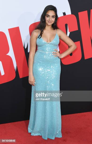 """Geraldine Viswanathan attends Universal Pictures' """"Blockers"""" Premiere at Regency Village Theatre on April 3, 2018 in Westwood, California."""