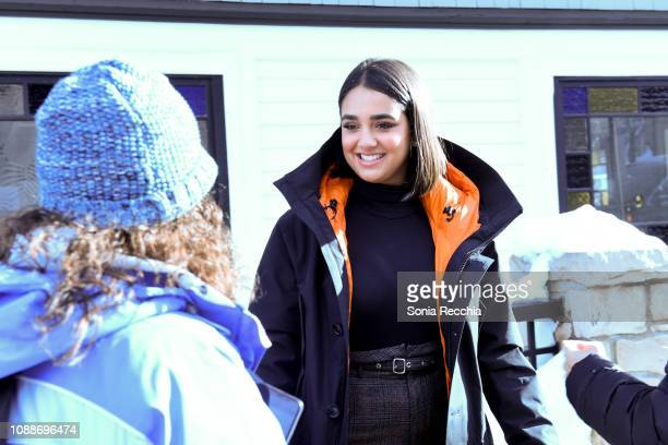 Geraldine Viswanathan is seen walking on Main Street during the 2019 Sundance Film Festival on January 25 2019 in Park City Utah