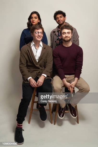 Geraldine Viswanathan Karan Soni Simon Rich and Daniel Radcliffe of TBS's Miracle Workers pose for a portrait during the 2019 Winter TCA at The...