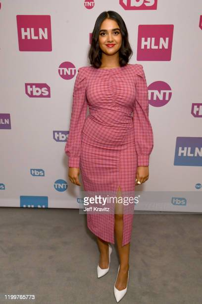Geraldine Viswanathan of 'Miracle Workers Dark Ages' pose in the green room during the 2020 Winter Television Critics Association Press Tour at The...