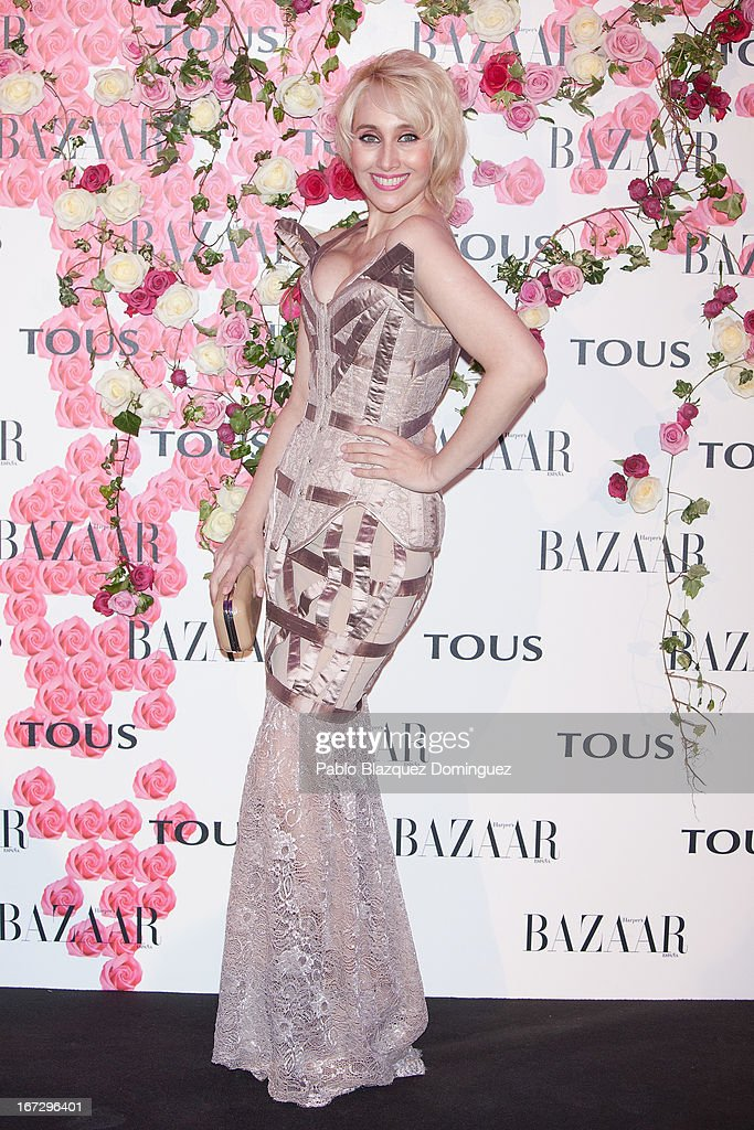 Geraldines Larrosa attends the presentation of the new fragrance 'Rosa' at Ritz Hotel on April 23, 2013 in Madrid, Spain.