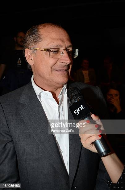 Geraldo Alckimin sits in the front row during the Cavalera show during Sao Paulo Fashion Week Summer 2013/2014 on March 18 2013 in Sao Paulo Brazil