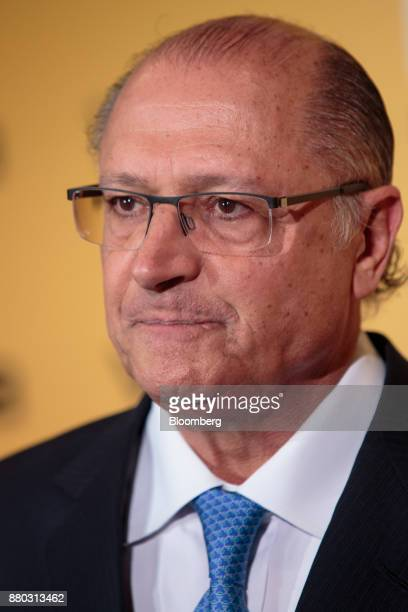 Geraldo Alckmin governor of Sao Paulo State listens during the Veja Political Summit in Sao Paulo Brazil on Monday Nov 27 2017 Initiatives such as...