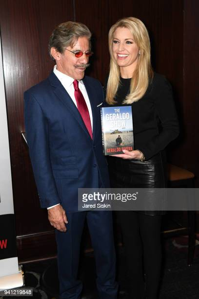 Geraldo Rivera and Ainsley Earhardt attend Sean Hannity Friends celebrate the publication of 'The Geraldo Show A Memoir' by Geraldo Rivera at Del...
