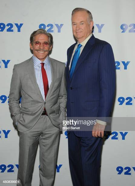 Geraldo Rivera and Bill O'Reilly attend attends and evening with Bill O'Reilly and Geraldo Rivera at 92nd Street Y on June 18 2014 in New York City