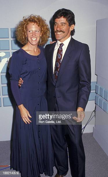 Geraldo Rivera and CC Dyer attend Exclusive Photo Session with Geraldo Rivera on August 31 1987 at Geraldo Rivera's studio in New York City