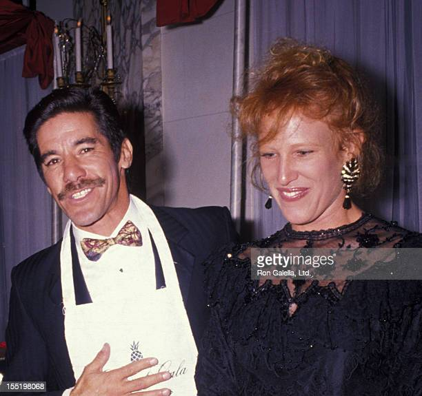 Geraldo Rivera and CC Dyer attend Gourmet Gala Benefiting the March of Dimes on October 15 1990 at the Plaza Hotel in New York City