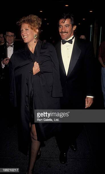 Geraldo Rivera and CC Dyer attend the opening of The Who's Tommy on April 22 1993 at the St James Theater in New York City