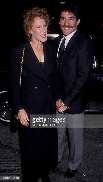 Geraldo Rivera and CC Dyer attend the premiere of Steel Magnolias on November 14 1989 at the Angelica Theater in New York City