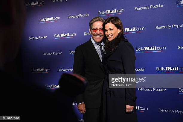 Geraldo Rivera and Erica Michelle Levy attend DailyMailcom Holiday Party 2015 on December 10 2015 in New York City