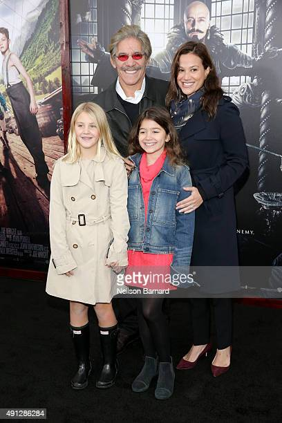 Geraldo Rivera and Erica Michelle Levy attend Pan premiere at Ziegfeld Theater on October 4 2015 in New York City