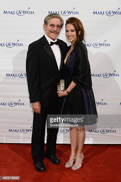 Geraldo Rivera and Erica Michelle Levy attend the MakeAWish Metro New York Annual Gala An Evening of Wishes at Cipriani Wall Street on June 12 2014...