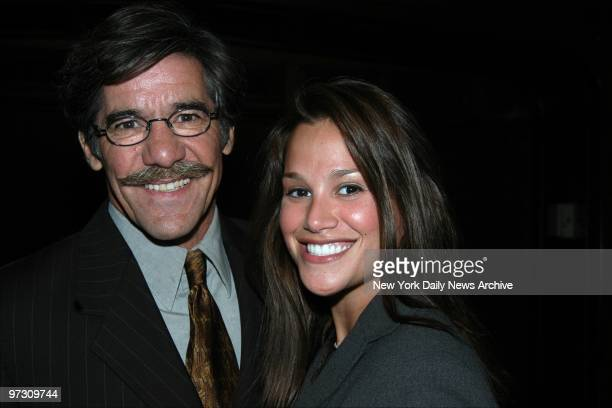 Geraldo Rivera and his fiance Erica Levy are on hand at the Harvard Club for an event honoring National Mentoring Month