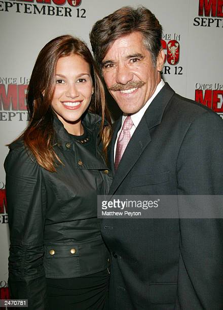 Geraldo Rivera and his wife attend the New York Premiere of Once Upon A Time In Mexico at the Loews Lincoln Square September 5 2003 in New York City