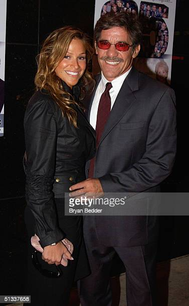 Geraldo Rivera and his wife Erica Levy arrive to the celebration in honor of Barbara Walters and 25 years of 20/20 September 22 2004 in New York City