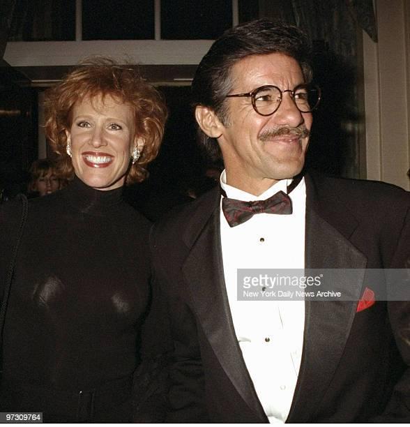 Geraldo Rivera and wife arriving at NBC party honoring Bob Wright at WaldorfAstoria Hotel
