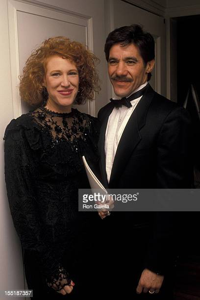 Geraldo Rivera and wife CC Dyer attend ASPCA Photo Exhibition on December 1 1988 at the Equitable Center in New York City