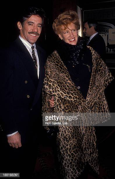 Geraldo Rivera and wife CC Dyer attend the screening of The Paper on March 15 1994 at the Ziegfeld Theater in New York City