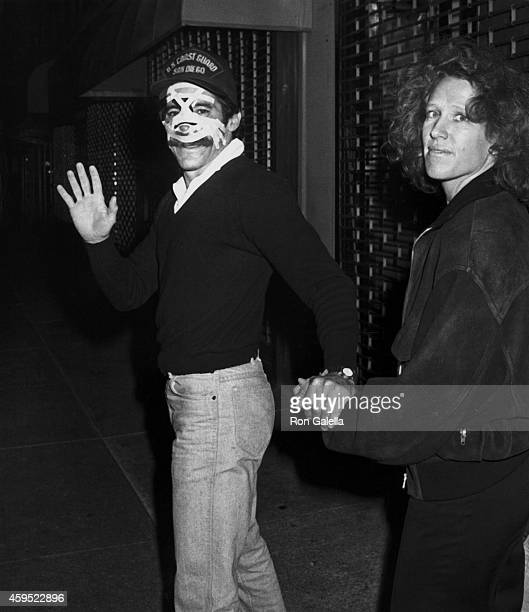 Geraldo Rivera and wife CC Dyer sighted at his doctor's office on November 4 1988 in New York City