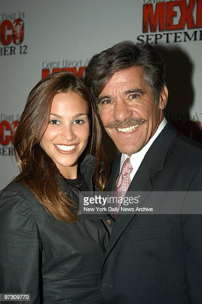Geraldo Rivera and wife Erica are at the Loews Lincoln Square for the New York premiere of the movie Once Upon a Time in Mexico