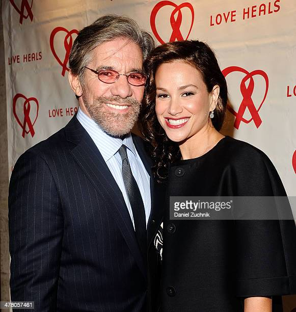 Geraldo Rivera and wife Erica Michelle Levy attend the Love Heals 2014 Gala at Four Seasons Restaurant on March 11 2014 in New York City