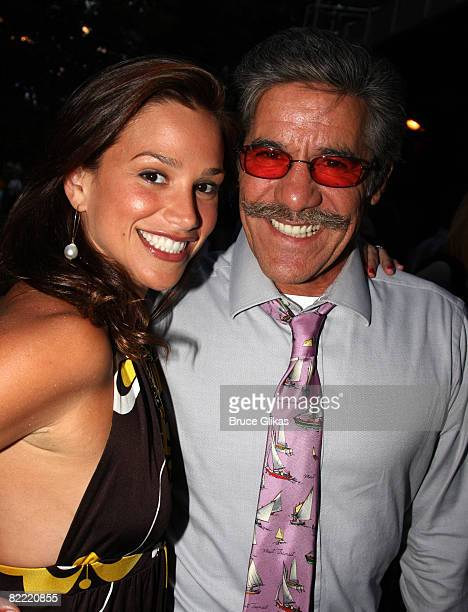 Geraldo Rivera and wife pose at the Opening Night arrivals for Hair at Shakespeare in the Park at the Delacorte Theater in Central Park on August 7...