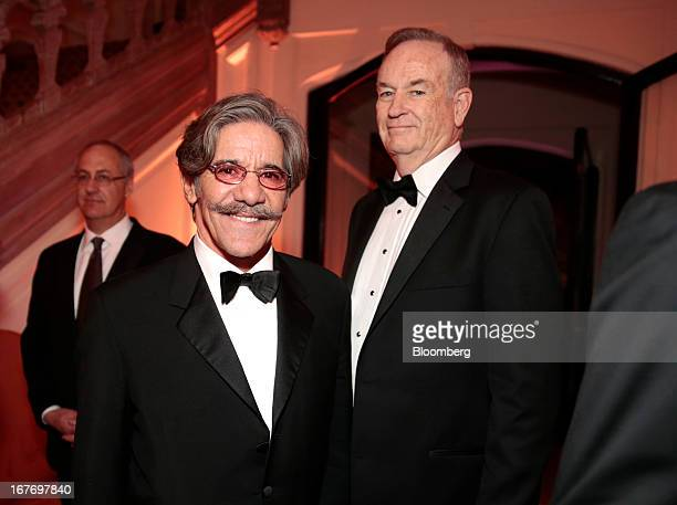 Geraldo Rivera, left, and television news commentator Bill O'Reilly attend the Bloomberg Vanity Fair White House Correspondents' Association dinner...