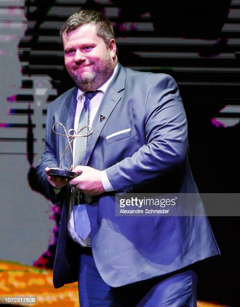 Geraldo Von Rosenthal paralympic athlete poses for photo after winning the best shooting athlete during the Brazil Paralympics Awards Ceremony 2018...