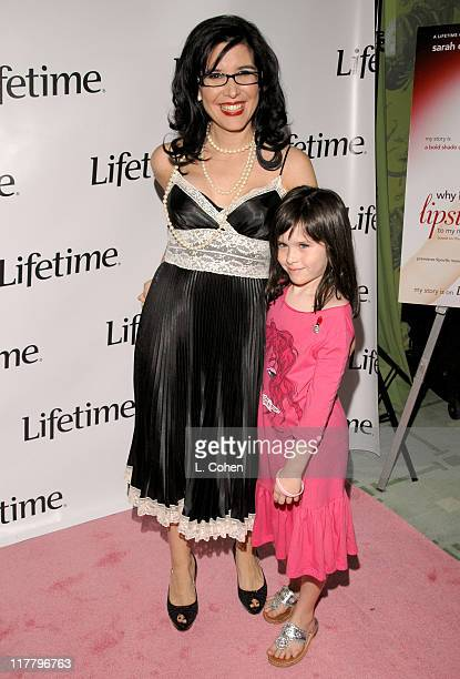 Geralyn Lucas and her daughter during Lifetime Presents Why I Wore Lipstick to My Mastectomy Los Angeles Screening at Social in Hollywood California...