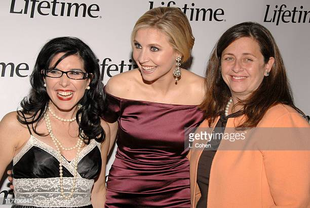 Geralyn Lucas Sarah Chalke and Susanne Daniels during Lifetime Presents 'Why I Wore Lipstick to My Mastectomy' Los Angeles Screening at Social in...