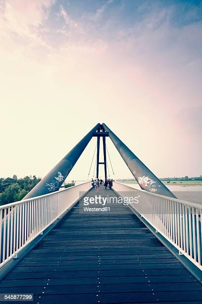 Geramny, Dusseldorf, Media Harbour, bridge at Parlamentsufer