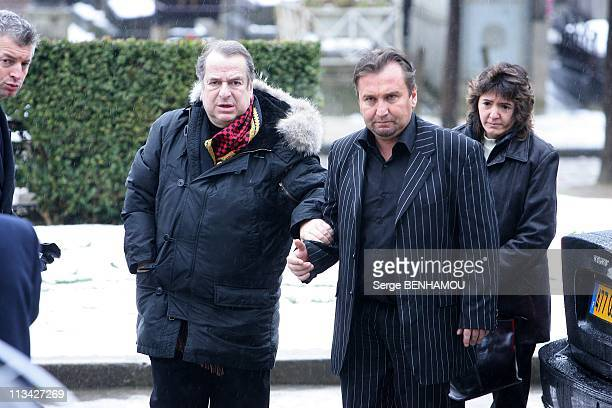 Gerard Blanc'S Funeral At Cemetery Of Father Lachaise In Paris France On February 02 2009 PaulLoup Sulitzer