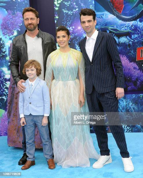"""Gerard Butler, AJ Kane, America Ferrera and Jay Baruchel arrive for Universal Pictures and DreamWorks Animation premiere of """"How To Train Your..."""