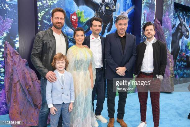 Gerard Butler, AJ Kane, America Ferrera, Jay Baruchel, Craig Ferguson and Christopher Mintz-Plasse attend Universal Pictures and DreamWorks Animation...