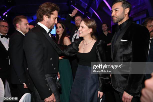 Gerard Butler, Alicia von Rittberg during the Cinema For Peace Gala at Westhafen Event & Convention Center on February 23, 2019 in Berlin, Germany.