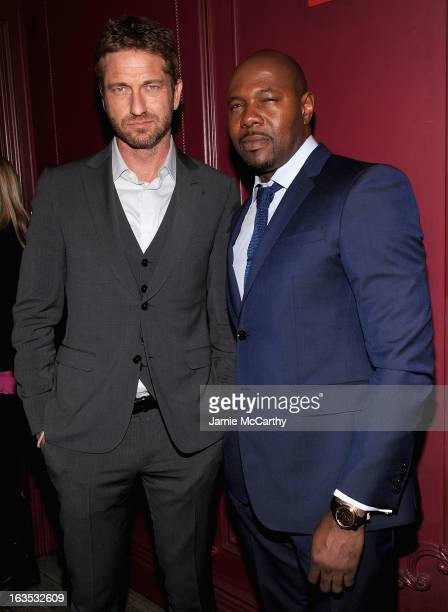 Gerard Butler and director Antoine Fuqua attend the after party for The Cinema Society with Roger Dubuis and Grey Goose screening of FilmDistrict's...