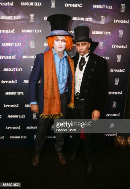 Gerard Butler and Founder of treats Steve Shaw at treats Magazine's 7th Halloween Party in Partnership with RollsRoyce Black Badge Absolut Elyx...
