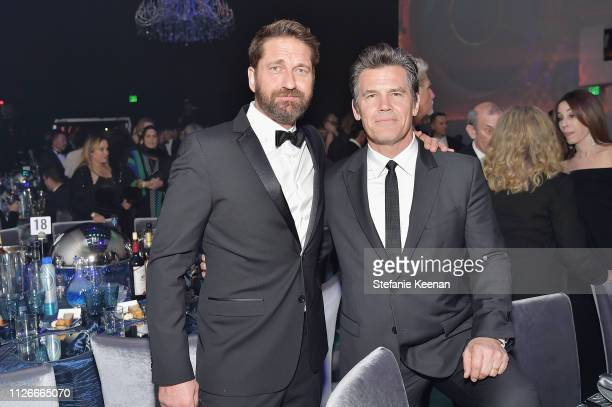 Gerard Butler and Josh Brolin attend the UCLA IoES honors Barbra Streisand and Gisele Bundchen at the 2019 Hollywood for Science Gala on February 21...