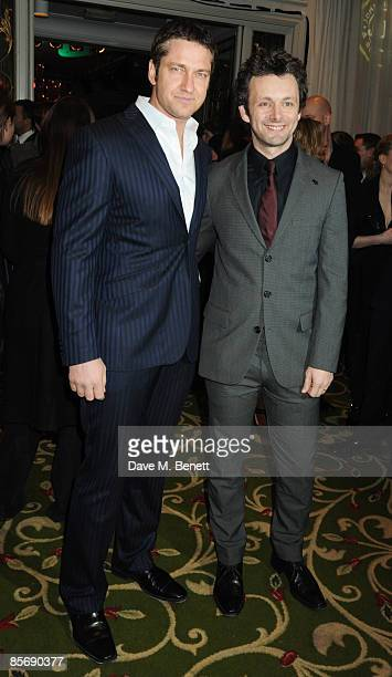 Gerard Butler and Michael Sheen arrive at the Jameson Empire Awards 2009 at the Grosvenor House Hotel on March 29 2009 in London England