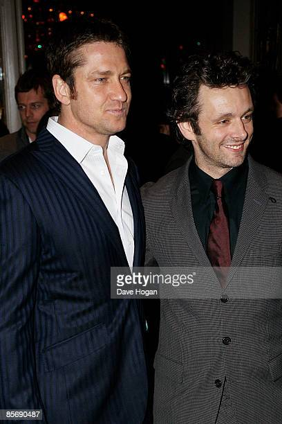 Gerard Butler and Michael Sheen attend the Jameson Empire Magazine Awards held at The Grosvenor House Hotel Park Lane on March 29 2009 in London...