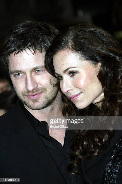 Gerard Butler and Minnie Driver during Unveiling of The Phantom of The Opera Window and Live Concert at Bloomingdales at Bloomingdales in New York...